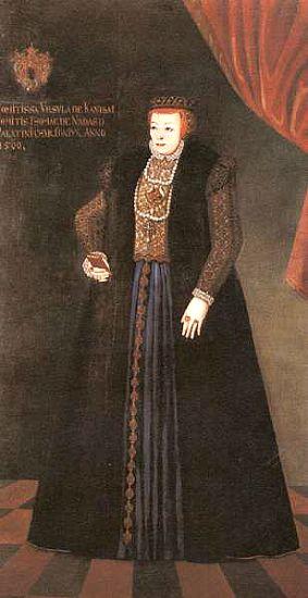 "Retrato de Orsolya Kanizsai, suegra de la ""Condesa asesina"". (Wikipedia)"