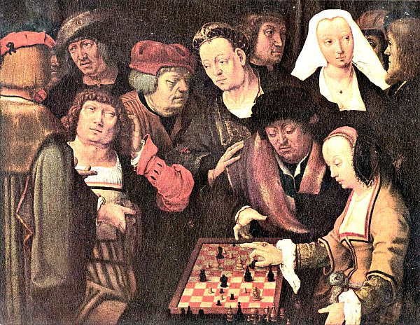 """Los jugadores de ajedrez"", obra de Lucas van Leyden. (Wikimedia Commons)"