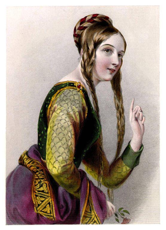 Leonor de Aquitania, además de por su extensa cultura y su fuerte personalidad fue también famosa por su gran belleza. Ilustración del libro Biographical Sketches of the Queens of England – Esbozos Biográficos de las Reinas de Inglaterra (Public Domain)