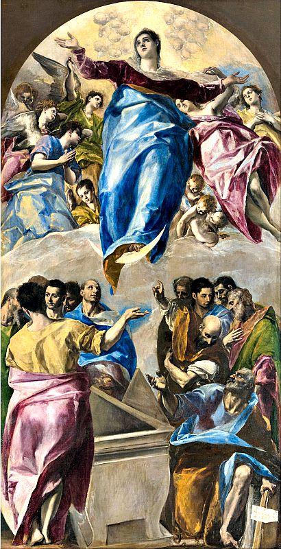 Asunción de la Virgen de El Greco, una de las joyas del Instituto de Arte de Chicago (Wikimedia Commons)