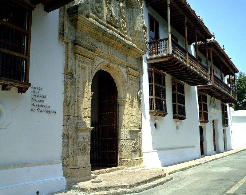 Fachada del Palacio de la Inquisición de Cartagena de Indias, Colombia. (Wikimedia Commons)