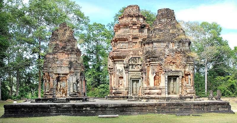 Santuario del Templo Preah Ko, que fue el primer templo de Angkor, construido a finales del siglo IX. (Flickr)