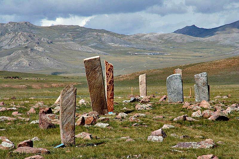 Megalitos prehistóricos cerca de Mörön, Mongolia (Public Domain)