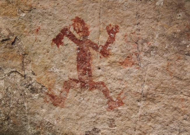 Pintura rupestre procedente de otra zona de Chiribiquete en la que se puede observar una figura humana. (Carlos Castaño Uribe/Wikimedia Commons)