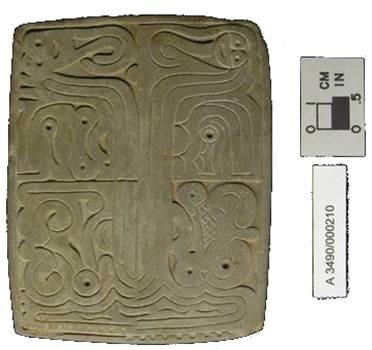 Sello para estampar de la Cultura Adena. Foto cortesía de la Ohio Historical Society