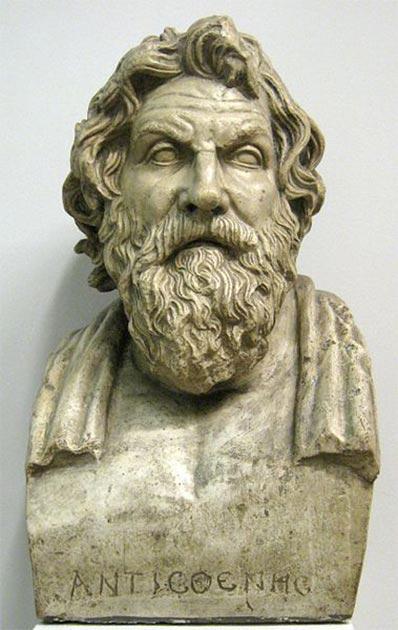 Antístenes, el padre del cinismo filosófico. Elenco en el museo Pushkin. (shako CC BY SA 3.0)