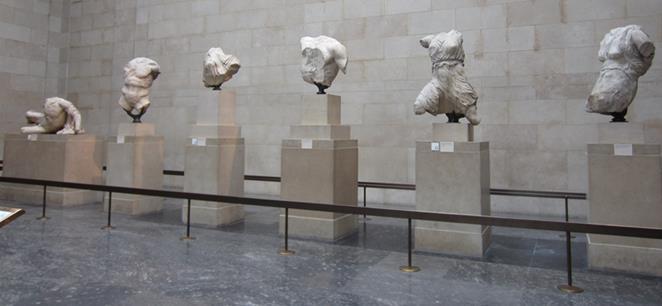 """Algunos de los Mármoles """"de Elgin"""" expuestos en el Museo Británico (Foto: Another Believer/Wikimedia Commons)"""