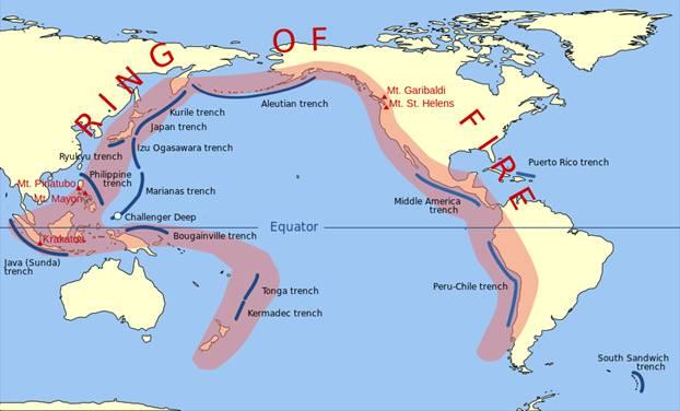 El Cinturón de Fuego del Pacífico