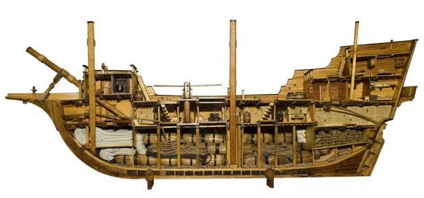 Modelo de un típico buque mercante de los siglos XVI y XVII. (CC BY-SA 3.0)