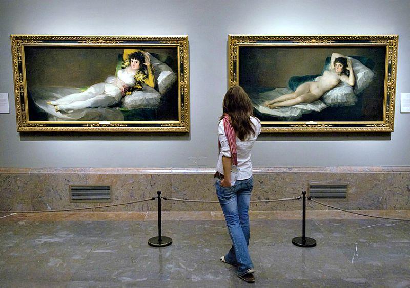 Sala donde se exponen la Maja Vestida y la Maja Desnuda de Francisco de Goya. (Wikimedia Commons)