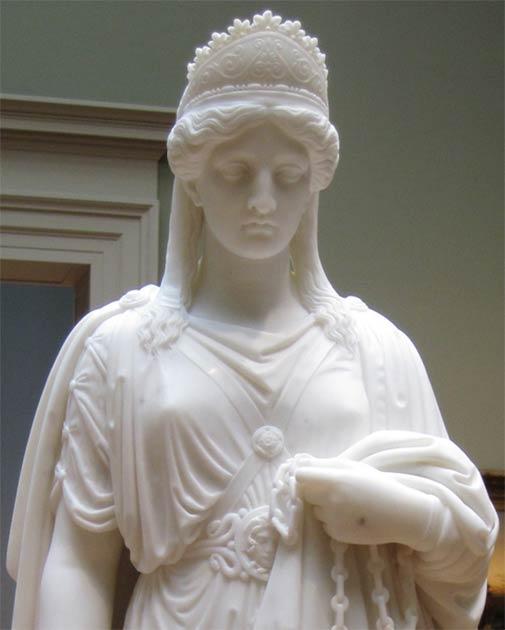 Estatua de mármol de la famosa reina Zenobia encadenada. (CC BY SA 3.0)
