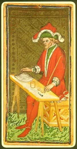 """La carta del  """"Mago"""", perteneciente a una baraja de tarot del siglo XV. Public Domain"""
