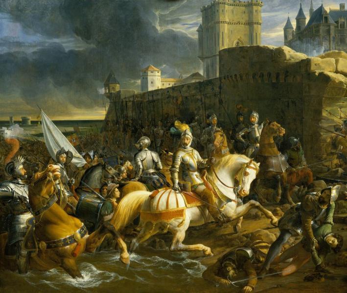 Los franceses toman Calais en 1558. Óleo de François-Édouard Picot, 1838 (Public Domain)