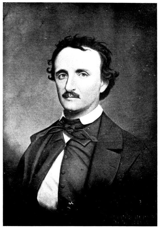 Retrato de Edgar Allan Poe obra de Oscar Halling a finales de la década de 1860. La pintura está basada en una fotografía de 1849. (Public Domain)