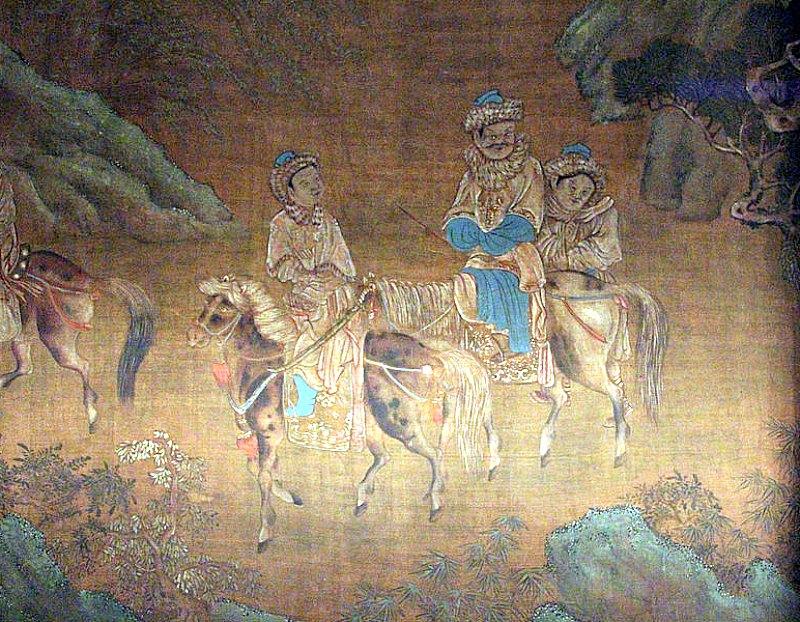 Viaje de Wang Zhaojun más allá de la frontera (Siglos XVI-XVII). Biblioteca Medicea Laurenziana, Florencia. (Sailko/CC BY 3.0)