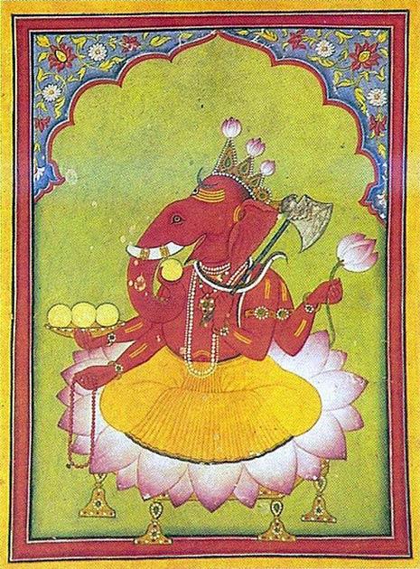 El dios hindú Ganesh, el dios de los nuevos comienzos, es una de las deidades hindúes más adoradas. (Dominio público)