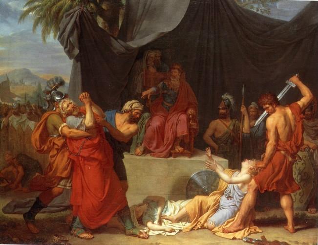 Nabucodonosor Da Muerte a los Hijos de Sedecías ante sus Ojos (1787), Fabre