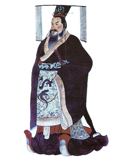 """Qin Shi Huang, el primer emperador de China, que tenía una obsesión con la inmortalidad y finalmente murió de equilibrio después de tomar un """"elixir de la vida"""". (Dominio publico)"""