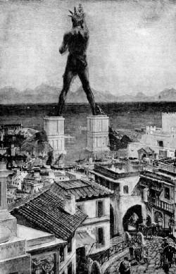 Diseño artístico del Coloso de Rodas procedente del Libro de la Sabiduría de 1911 Public Domain
