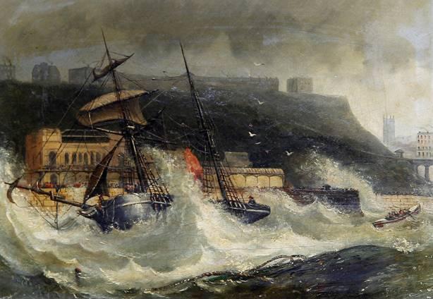 Naufragio del Copeland en South Shields, Inglaterra, 2 de Noviembre de 1861. Public Domain
