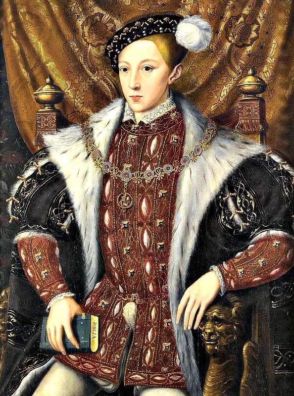 Eduardo VI de Inglaterra, el ansiado heredero que tanto deseó su padre Enrique VIII, murió con sólo 15 años de edad. Óleo de William Scrots. (Wikimedia Commons)