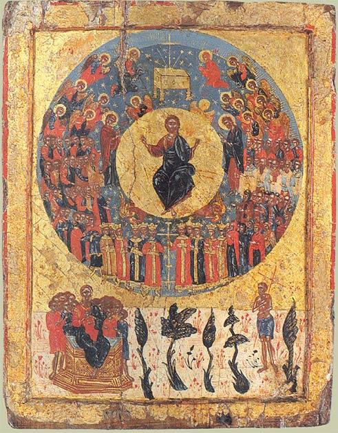 Icono griego de la segunda venida. (Dominio público)
