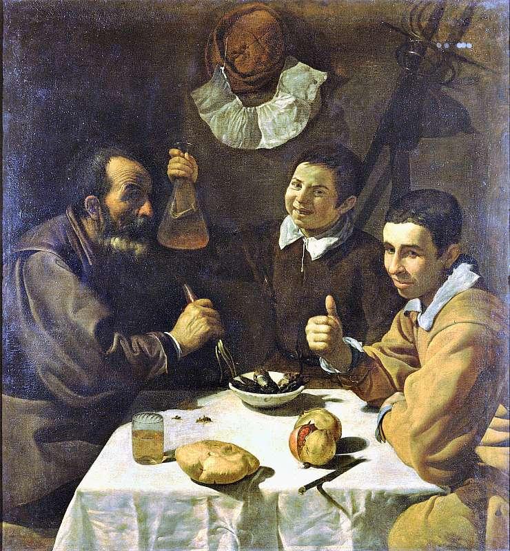 """El almuerzo"". Obra de Velázquez. (Wikimedia Commons)"
