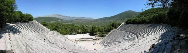 Teatro griego y los anfiteatros en honor a Dioniso