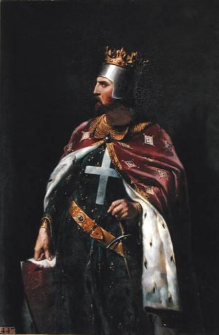 Ricardo Corazón de León, sin duda el hijo más famoso de Leonor de Aquitania. Cuadro de Merry-Joseph Blondel pintado en 1841 (Public Domain)