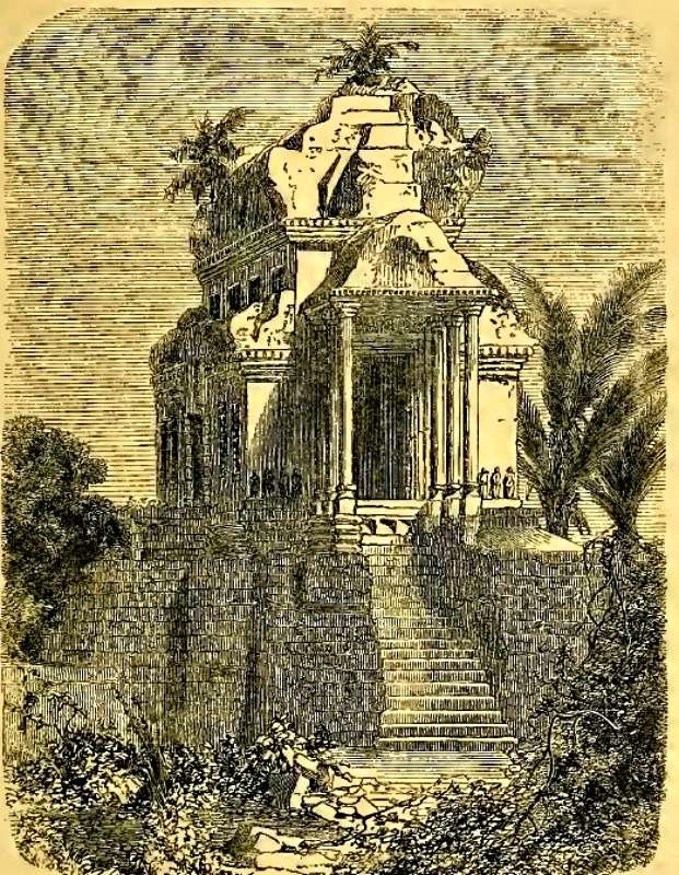 Templo de Angkor dibujado por el explorador y naturalista francés Henri Mouhot. (Wikimedia Commons)