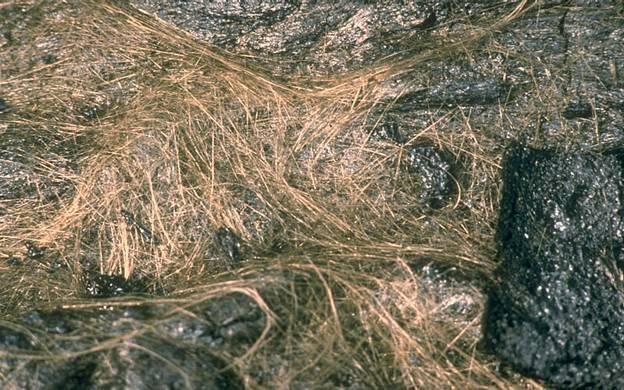 Cabellos de Pele, hebras de vidrio volcánico