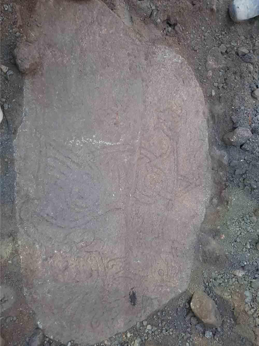 La piedra de imagen única ha desaparecido desde el siglo XVIII. (Imagen: Annika Knarrström / Arkeologerna)