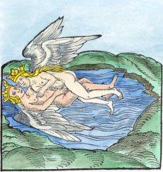 ¿Podría ser que las figuras de láminas de oro representen los Hieros gamos o unión cósmica, entre los dioses Freyr y Gerdr? (Dominio público)