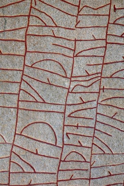 Inscripción en la Rok Runestone. Crédito: thomasmales / Adobe Stock