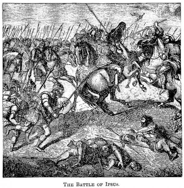 En la batalla de Ipsus, Lisímaco y sus aliados derrotaron decisivamente a Antígono. (James D McCabe 1877 / Dominio público)