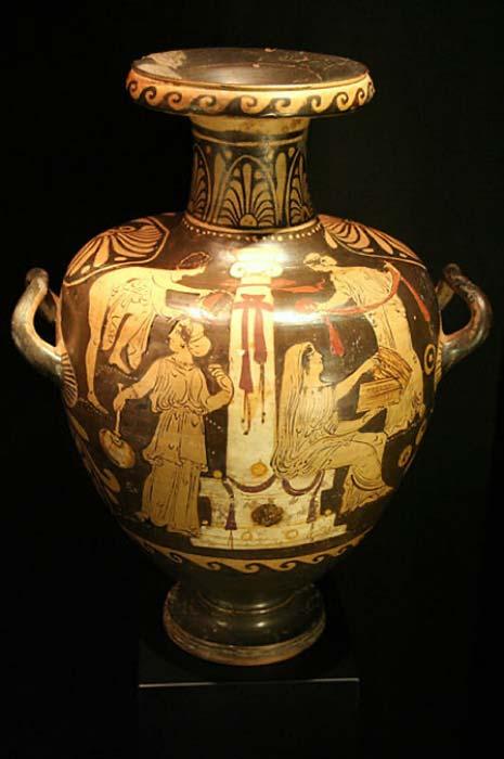 Ejemplo de una (ornamentada) siglo IV a. C Hidria griega. (Museo de Arqueología de Cataluña / Dominio público)