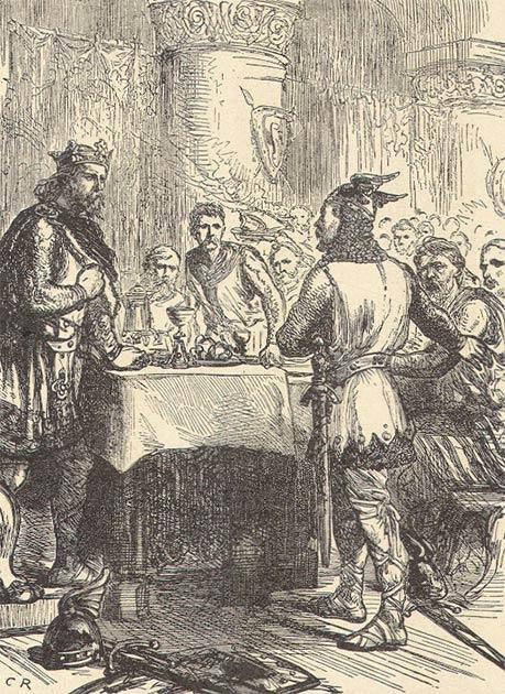 El rey Harold Godwinson, el último rey anglosajón, recibió la noticia de la invasión normanda. (Dominio publico)