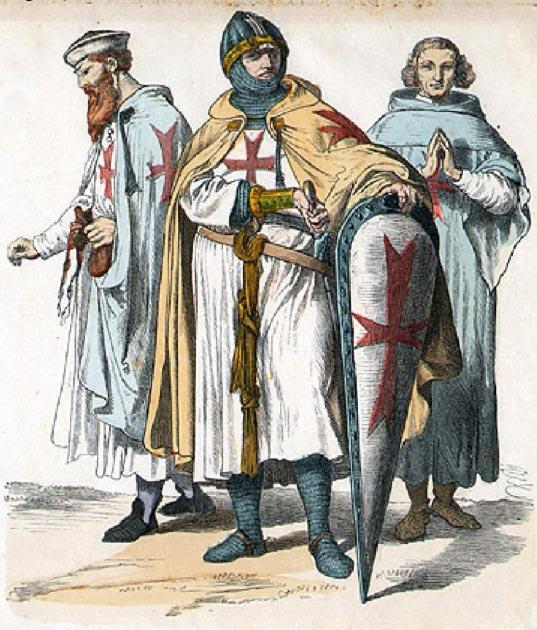 Caballeros Templarios. (Dominio público)