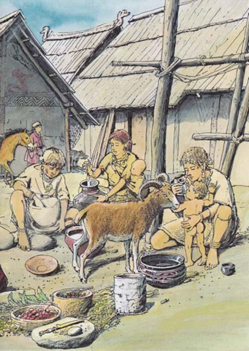 La imagen muestra el uso del vaso de alimentación del bebé en la edad de bronce. (Christian Bisig / Archäologie der Schweiz)