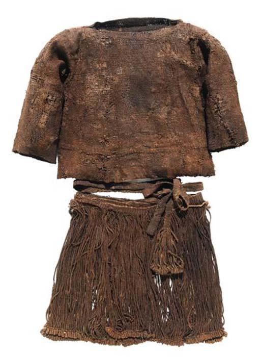 La ropa de la niña Egtved. (Museo Nacional de Dinamarca)