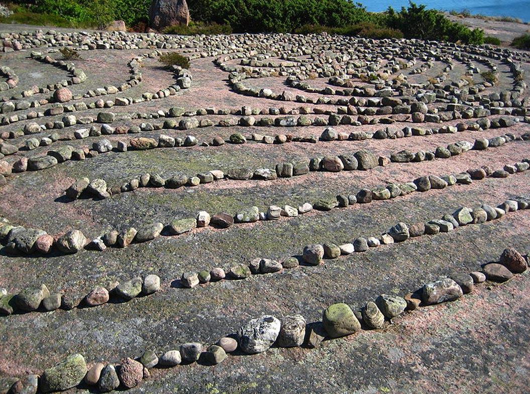 El laberinto de la isla de Blå Jungfrun, en Suecia. (CC BY 3.0)