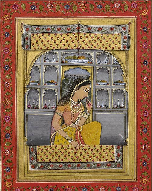 Arriba: Cuenta la leyenda que Alauddin Khilji fue motivado para asediar el Fuerte de Chittorgarh después de enterarse de la belleza de Padmini. (Dominio público)