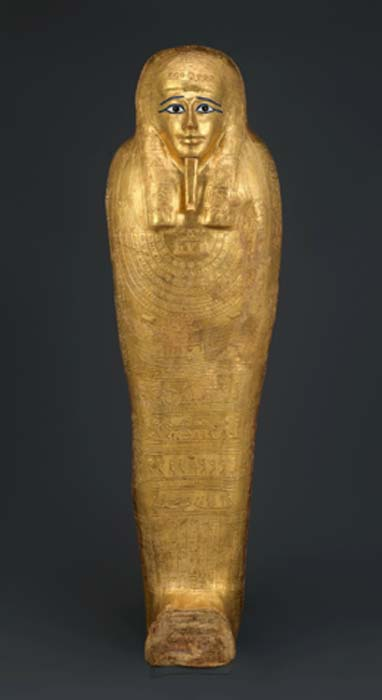 Tapa del ataúd de Nedjemankh, sacerdote de Heyrshef, 150-50 a. C. (Museo Metropolitano de Arte / CC0)