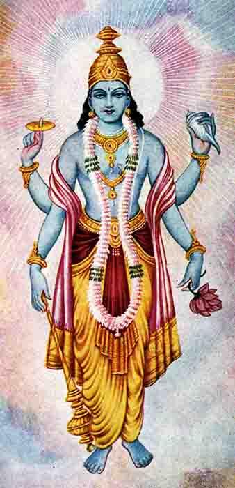 Lord Vishnu, poderoso socio de Lakshmi. (Ramanarayanadatta astri / Dominio público)