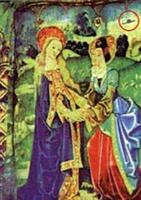 Magnificat, décimo quinto tapiz medieval de Tournai, Bélgica, objeto en un círculo en la esquina superior derecha. (Notre Dame Basílica Beaune / Dominio público)