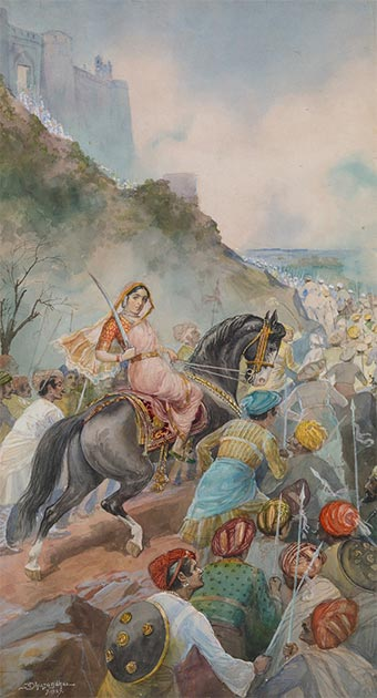 Maharani Tarabai de Karvir. (Dominio publico)