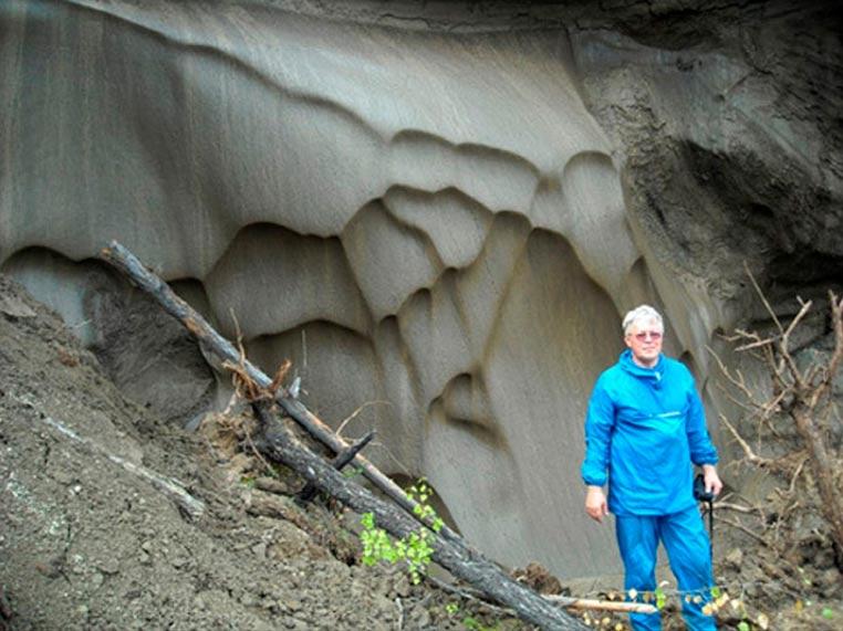 El Dr. Anatoli Brouchkov, jefe del Departamento de Geocriología de la Universidad Estatal de Moscú, en Mamontova Gora. Foto: Anatoli Brouchkov