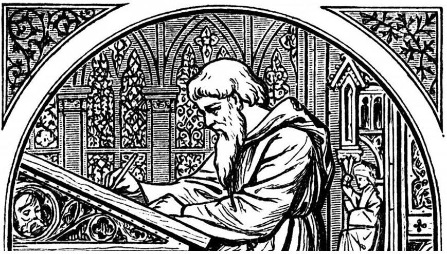 Con anterioridad al descubrimiento de Booth, el uso más antiguo de la palabra 'fuck' en lengua inglesa había sido garabateado por un monje en los márgenes de un manuscrito obra de Cicerón. Imagen: Wikipedia.