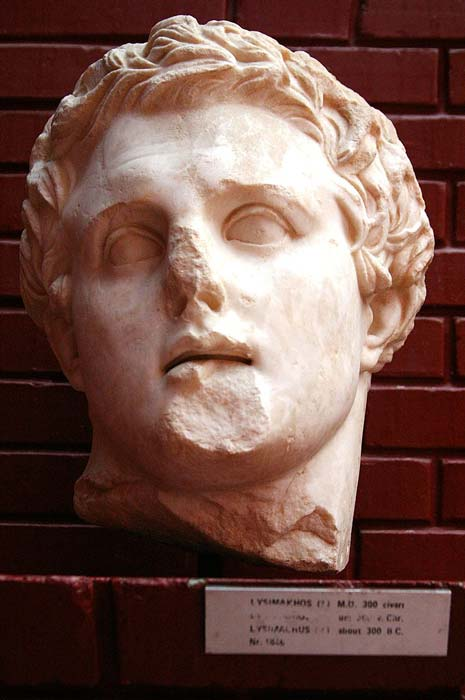 Un busto de mármol de Lisímaco. (© José Luiz Bernardes Ribeiro)