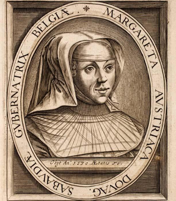Grabado de Margarita de Austria de la dinastía de los Habsburgo. (Hansmuller / Dominio público)